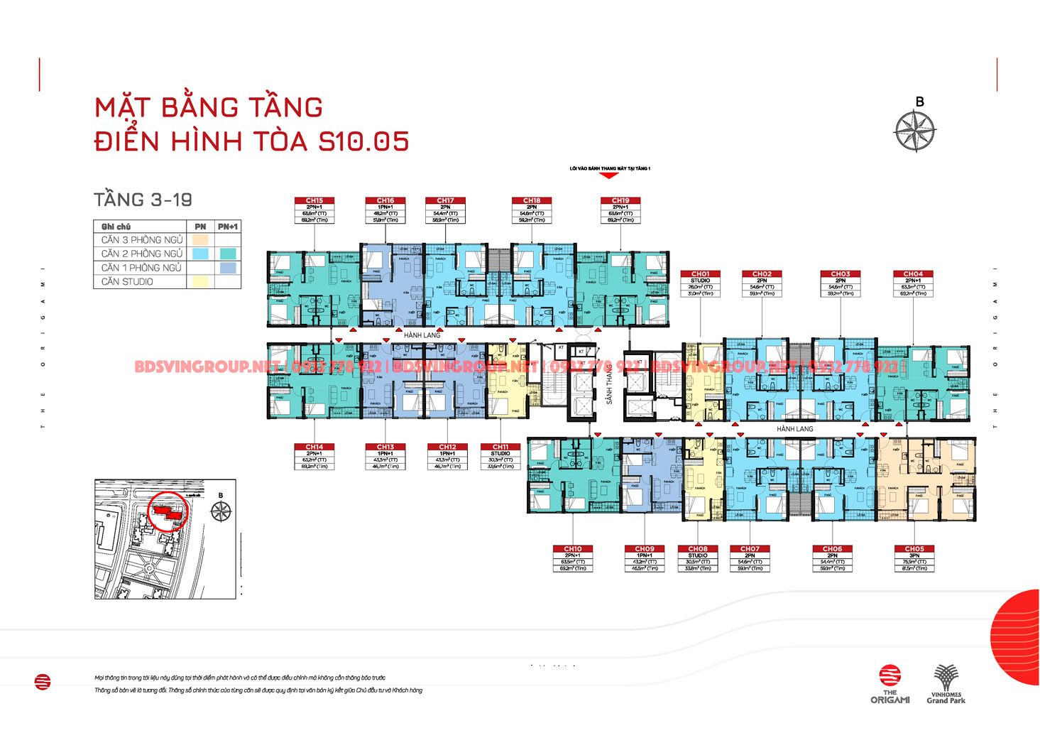 Layout S1005 tầng 3-19